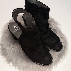 White Mountain | Black Faux Suede Cutout Booties